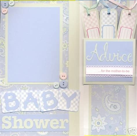 Page Shower by Scrapbook Baby Shower Ideas Things