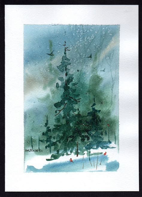 Make Your Own Watercolor Paper - painted watercolor card by mjonesart on etsy