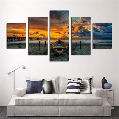 home decor canvas art 5 panels canvas print buddha painting on canvas wall art