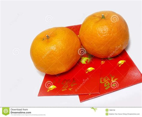 new year oranges exchange packets with mandarin oranges royalty free stock image