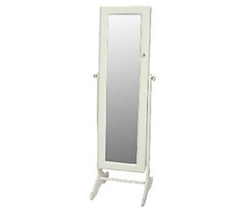 qvc jewelry armoire gold silver safekeeper mirrored jewelry cabinet by lori