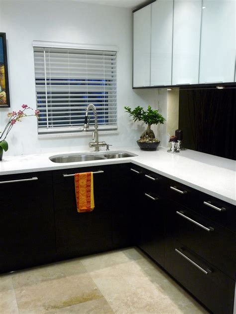 black and white kitchen cabinet