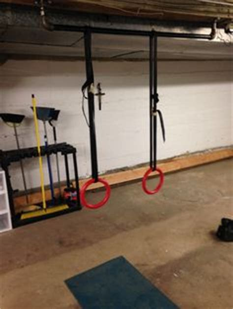 homemade basement pull  bar fitness pinterest