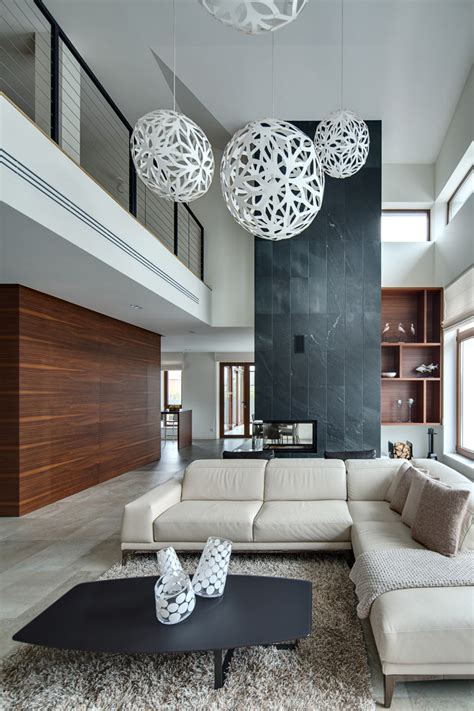 spacious home   warm interior  kiev design milk