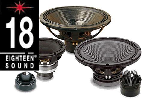 Speaker Eighteen Sound speaker parts eighteen sound