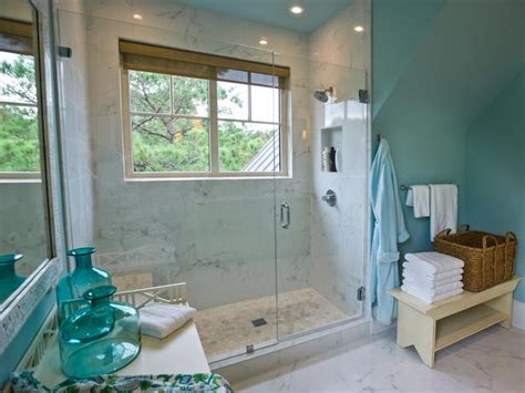 turquoise blue wall paint cottage bathroom sherwin williams watery hgtv