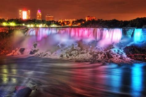 niagara falls light show the evolution of christmas lights from incandescent to