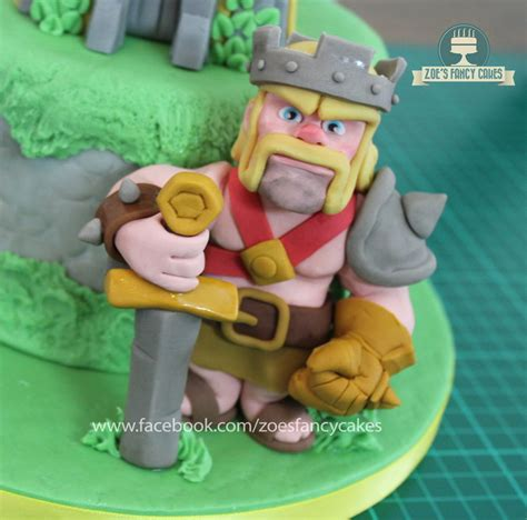 Clash Of Clans King clash of clans barbarian king cake topper cakecentral