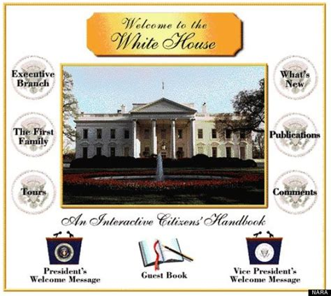 house website the white house s first website was so 90s it hurts