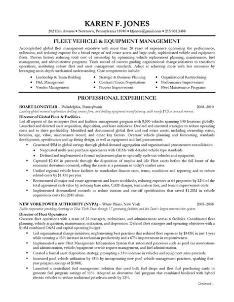 Resume Template Executive Management Executive Resume Sle Operations Management On Behance