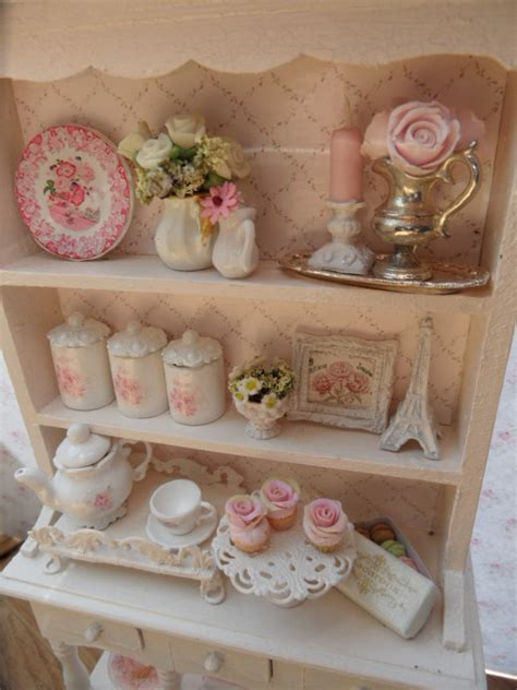 Pink Kitchen Canisters items similar to dollhouse 1 12 scale shabby chic kitchen
