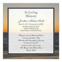 service announcement template memorial service announcement invitation zazzle