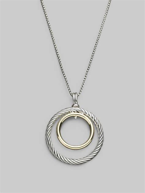 david yurman sterling silver 18k yellow gold circle