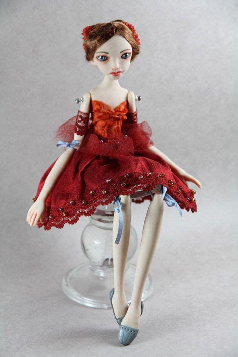 silla clay dolls ooak art doll aurora made with polymer clay by by