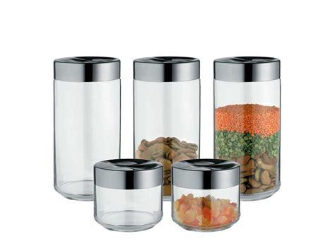 vasi di vetro per alimenti contenitore per alimenti in acciaio inox e vetro julieta