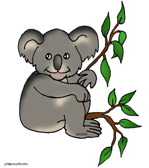 clipart koala animals clip by phillip martin koala