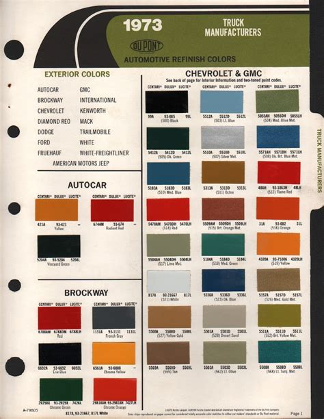 gm truck color chart autos post