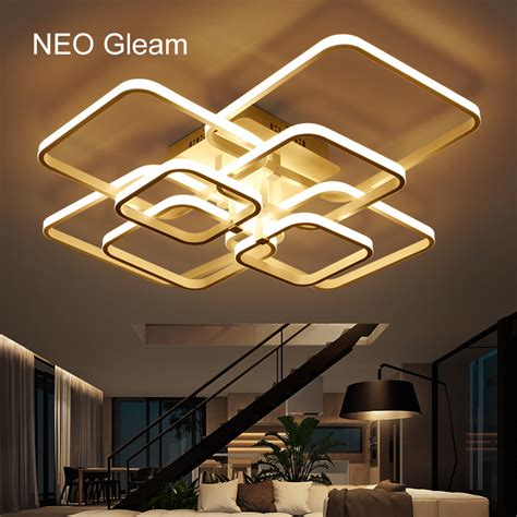 aliexpress com buy modern led ceiling lights acrylic aliexpress com buy neo gleam rectangle acrylic aluminum