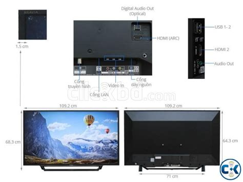 sony tv bravia 40 inch w650d wi fi smart hd led tv clickbd