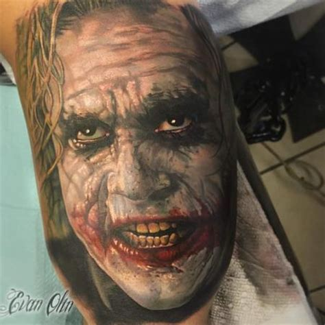 joker tattoo portrait evan olin tattoonow