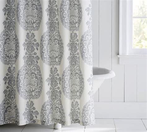 medallion shower curtain lucianna medallion shower curtain pottery barn