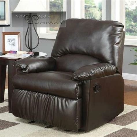 Lazy Boy Chairs Recliners - brown leatherette glider recliner lazy chair reclining
