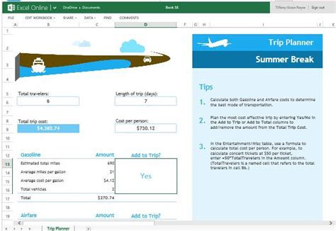 boat trip calculator trip planner template for excel online