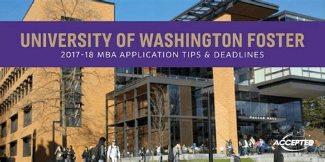 Georgetown Mba Admissions Deadlines by Of Washington Foster School Of Business Mba