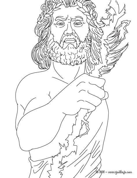 imagenes de dios zeus para dibujar dibujos para colorear dios zeus rey de los dioses