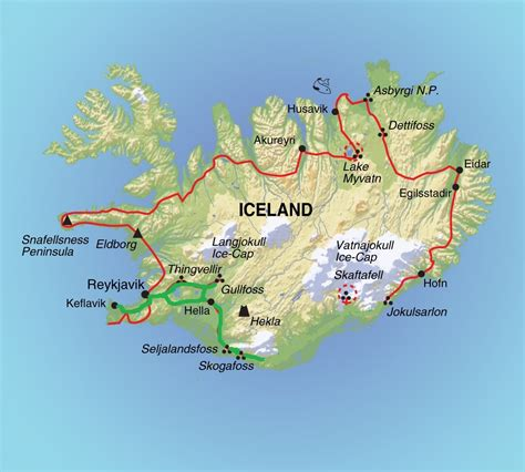 map iceland maps update 600374 iceland tourist attractions map