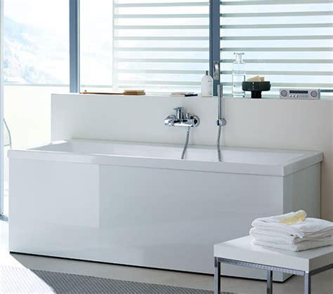 duravit vero bathtub duravit vero 1700x750mm bath with right slope backrest and