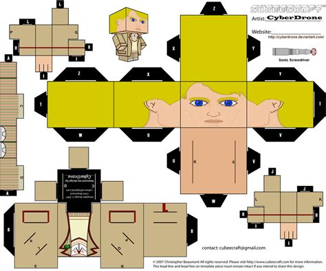 Custom Papercraft - cubee the 5th doctor by cyberdrone on deviantart
