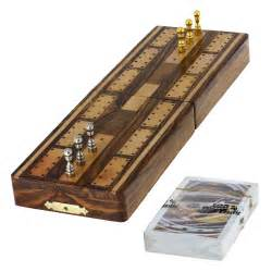 unique cribbage board and pegs set 3 track cards with