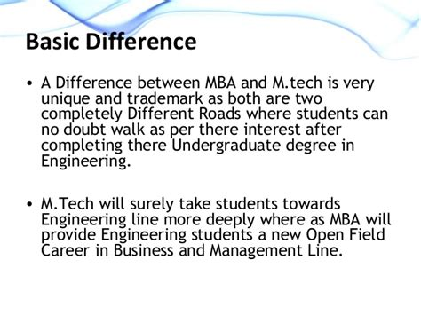 Mba Or Mtech by M Tech Or Mba Which One To Opt For