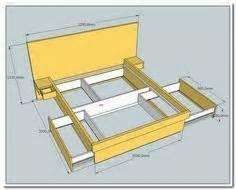 how to build a bed frame with drawers build a bed with storage canadian home workshop ideas