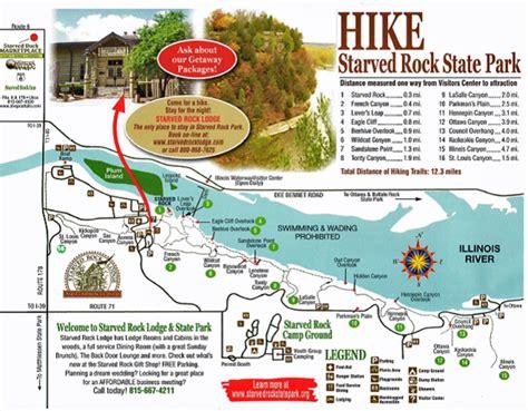 starved rock map starved rock state park oglesby illinois