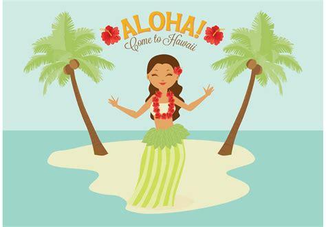 Free Polynesian Hula Female Dancer Vector   Download Free