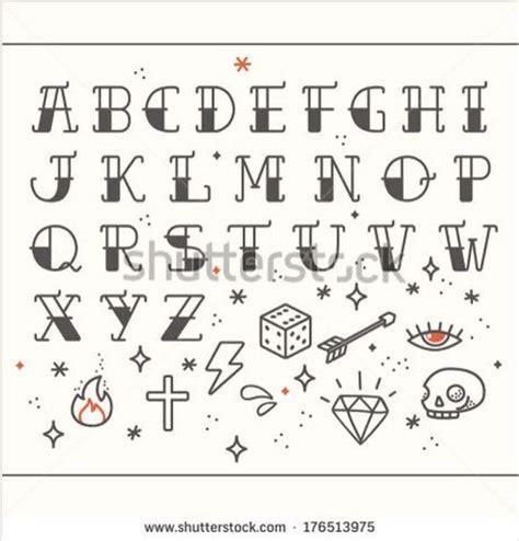 tattoo old school letters rockabilly alphabet cross stitch pinterest tattoo