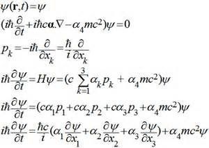 Speed Of Light Equation A Note Concerning The Dirac Equation And Its Derivation