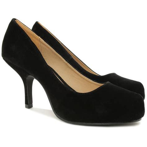 new womens stiletto mid heel concealed platform work court