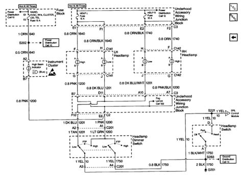 1998 buick regal headlight circuit diagram wiring