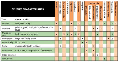 color of sputum sputum color chart sputum color chart image search