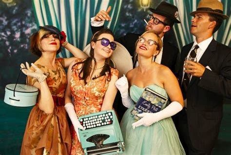 costume ideas suggestions 1960s mad men theme party fab vintage photo booths scott clark photography merci