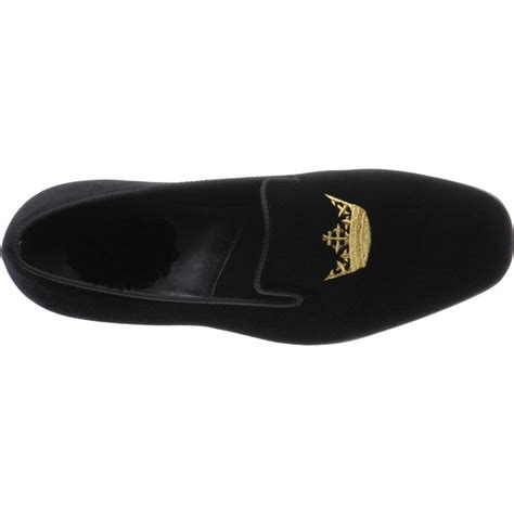 Handmade Mens Slippers - handmade velvet loafer embroidered slippers with