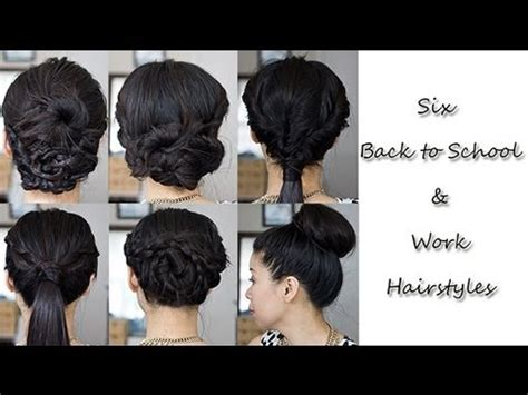 6 simple no heat back to school work hairstyles