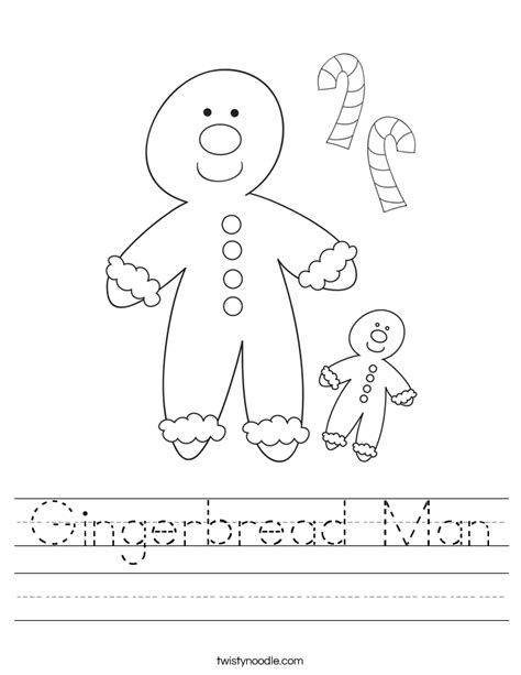 gingerbread man printable worksheets gingerbread man worksheet twisty noodle