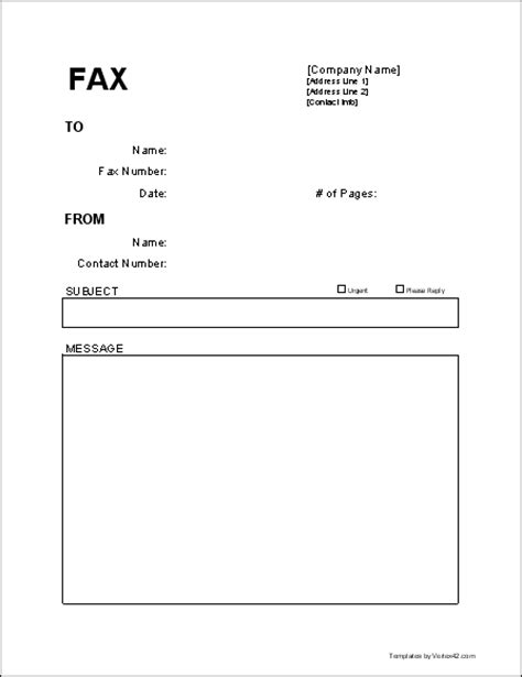 fax cover template free fax cover sheet template printable fax cover sheet