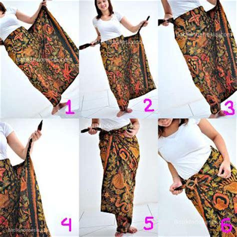 tutorial mengikat kain batik siminyun s story cara pakai kain batik sebagai rok