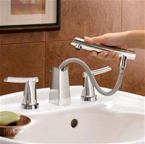 bathroom sink faucet with sprayer american standard 7010 801 075 green tea two lever