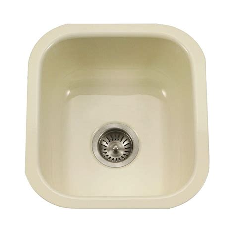 Porcelain Kitchen Sink Undermount Houzer Porcela Series Undermount Porcelain Enamel Steel 31 In Large Single Basin Kitchen Sink